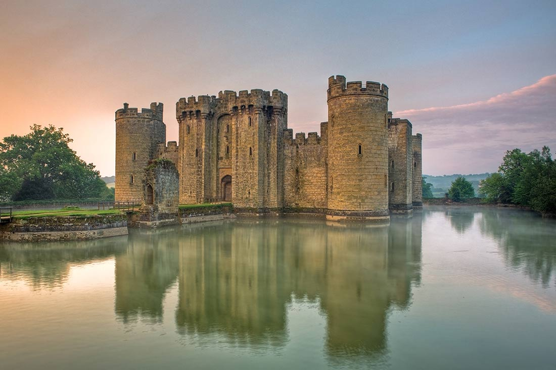 Bodiam Castle at sunset