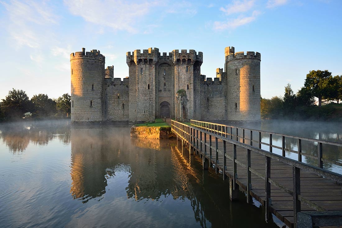 Bodiam Castle in Sussex England
